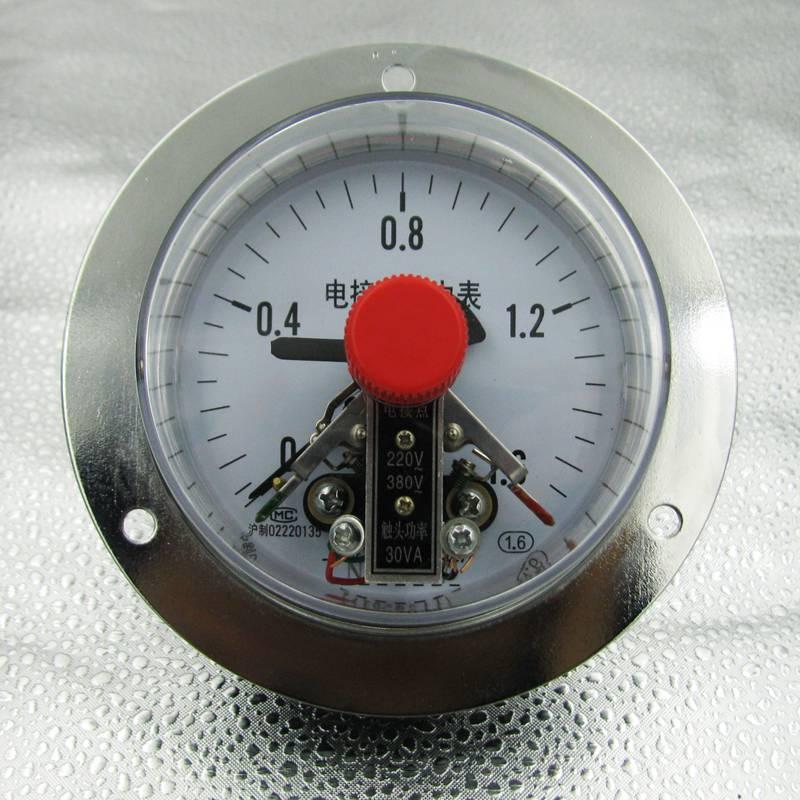 Đồng hồ áp 3 kim 0-1MPA chân sau có vành