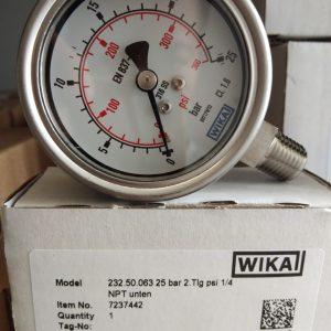 Đồng hồ đo áp suất 25 bar