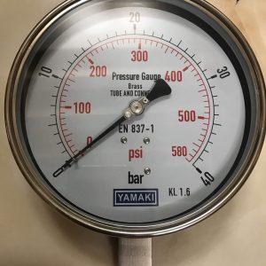 Đồng hồ áp suất Yamaki inox toàn bộ