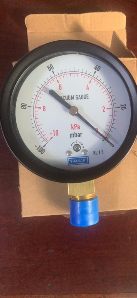 Đồng hồ đo áp suất thấp -10kpa -0