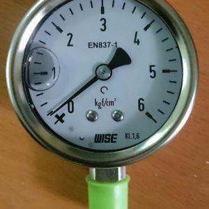 Đồng hồ áp suất có dầu phi 63mm