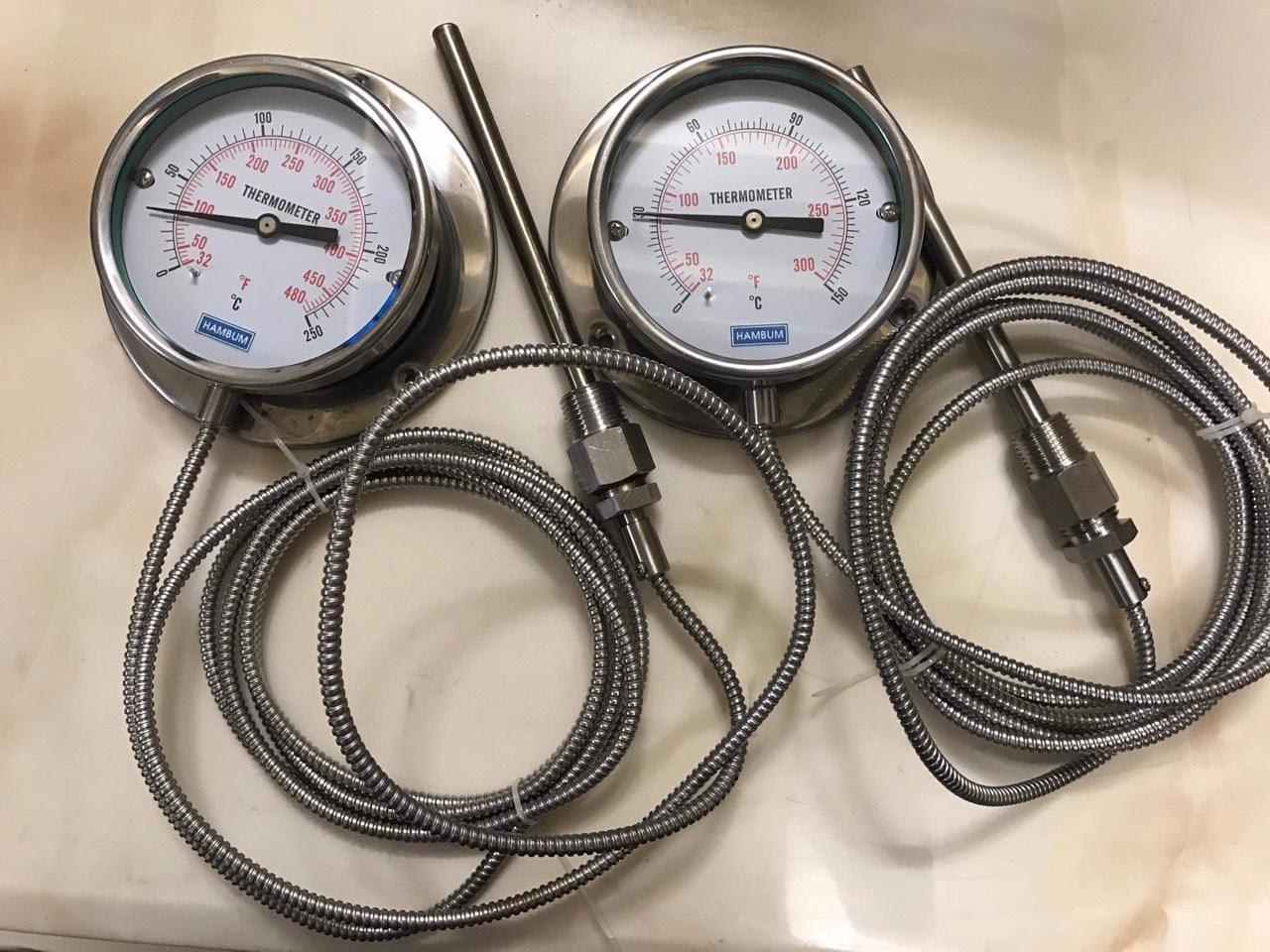 Đồng hồ nhiệt dạng dây 3m, phi 100mm