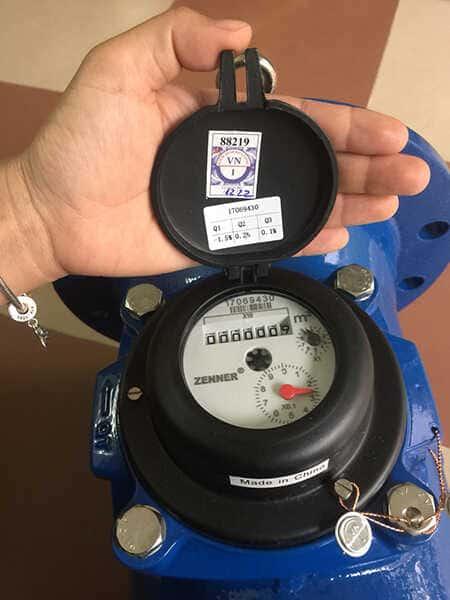 Đồng hồ nước lạnh Zenner WPH đã được kiểm định, kẹp chì