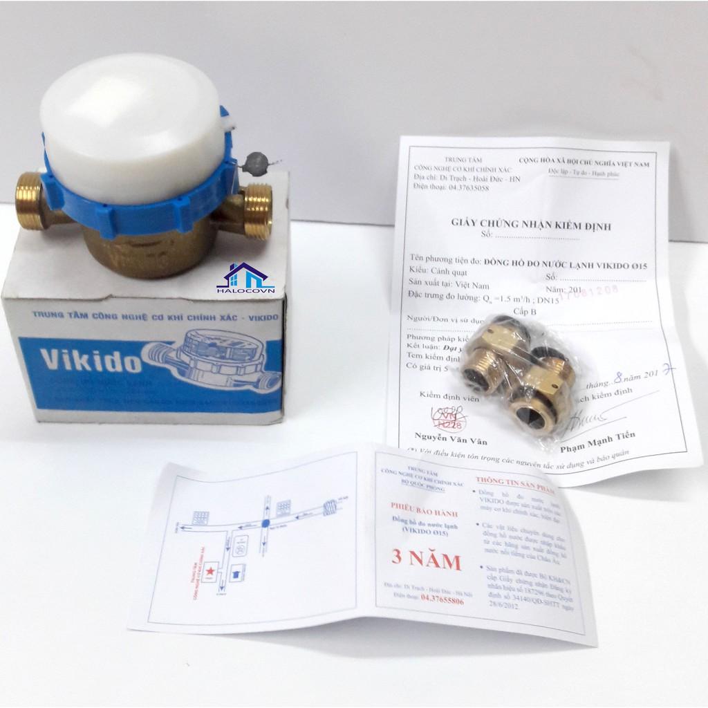 Đồng hồ nước VIKIDO Bộ Quốc phòng đã được kiểm định