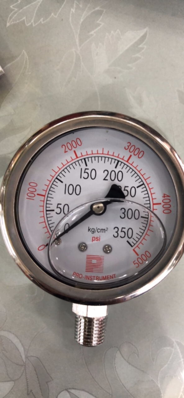 Đồng hồ áp suất giá rẻ 0-350kg/cm2, mặt 63mm,