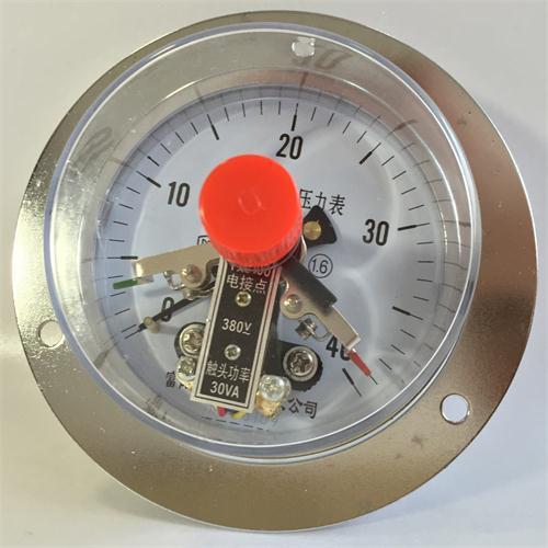 Đồng hồ áp suất 3 kim chân sau có vành
