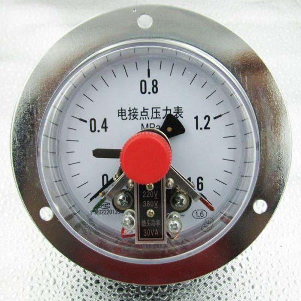 Đồng hồ áp suất 3 kim chân sau, 0-1.6MPA