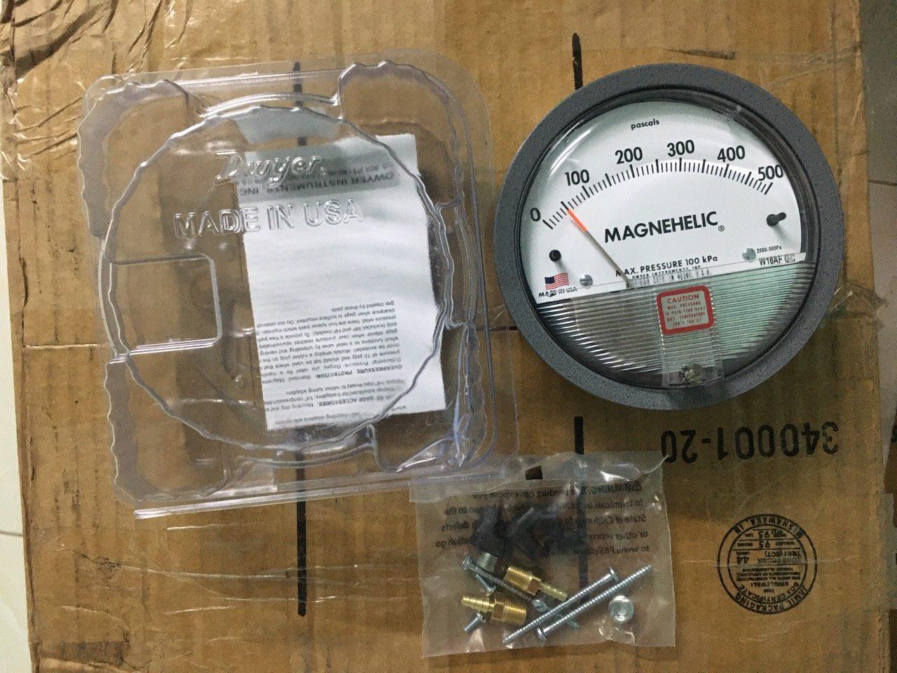 Đồng hồ chênh áp 2000-500Pa