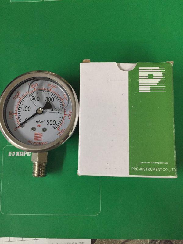 Đồng hồ áp suất giá rẻ 0-500kg/cm2, mặt 63mm,