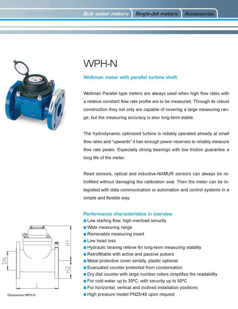 Thông số của đồng hồ nước Zenner lắp bích