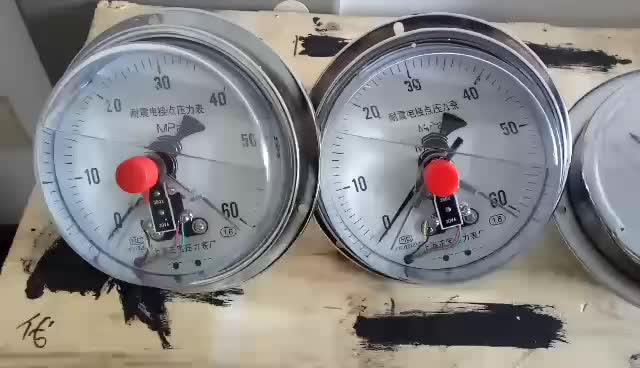 Đồng hồ áp suất 3 kim chân sau 0- 60bar