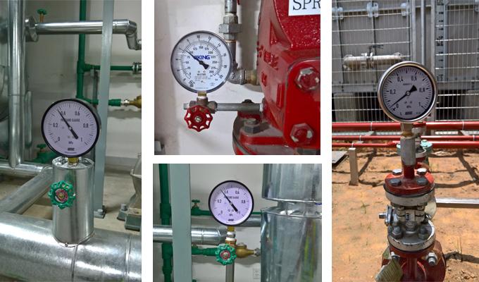 Lắp đặt đồng hồ áp suất cho hệ thống máy móc công nghiệp