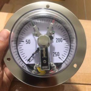 Đồng hồ áp suất 3 kim chân sau có vành, nhập khẩu chính hãngWise - Hàn Quốc