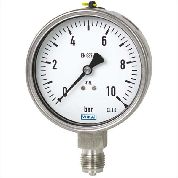 Đồng hồ áp suất wika model 232.50 phi 100mm. chân full inox 316