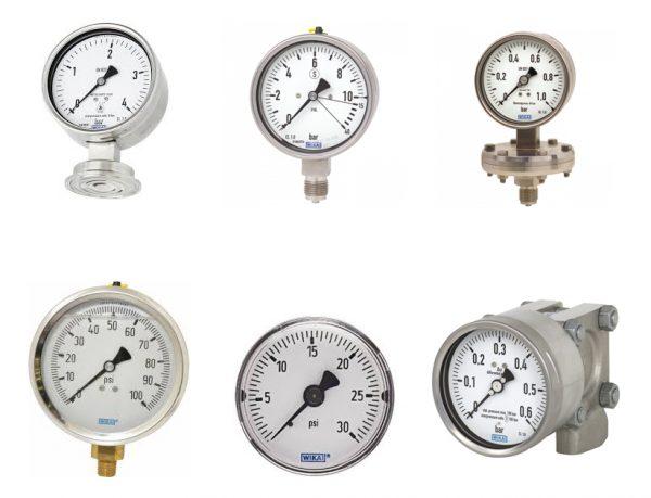 Các dòng đồng hồ đo áp suất wika khác nhau
