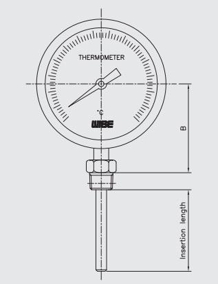 Cấu tạo của đồng hồ nhiệt chân đứng